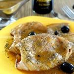 Жареный кальмар под тыквенно-соевым соусом