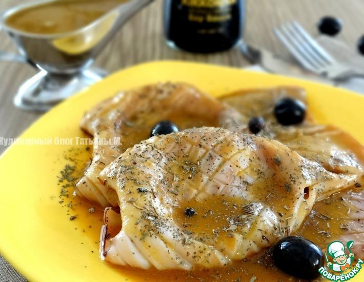Рецепт: Жареный кальмар под тыквенно-соевым соусом