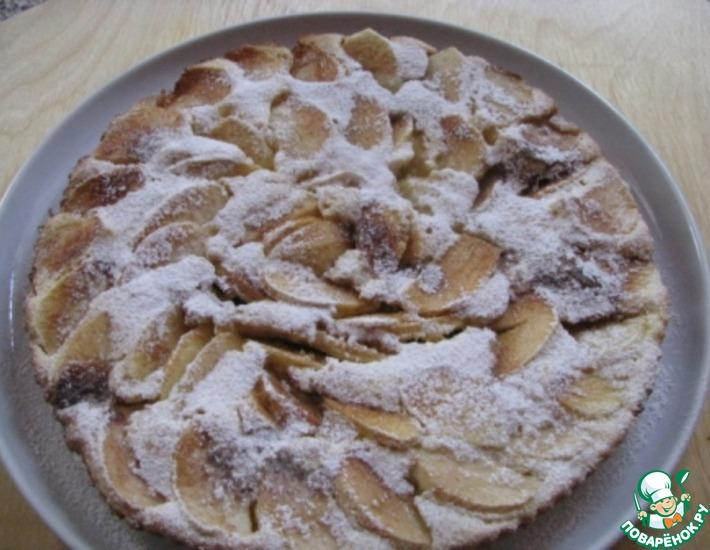 Рецепт: Быстрый яблочный пирог