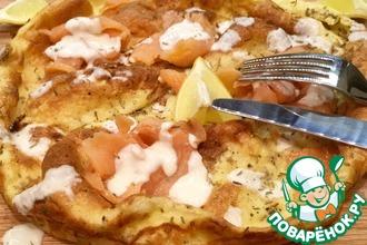Рецепт: Йоркширский пудинг с лососем