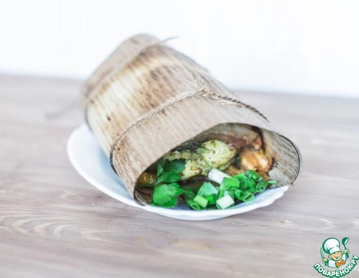 Рецепт: Куриная грудка с беконом и овощами