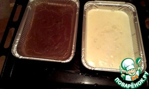 Pour it into moulds, I have them large, but can be different.  Pour 100 ml water into the tray