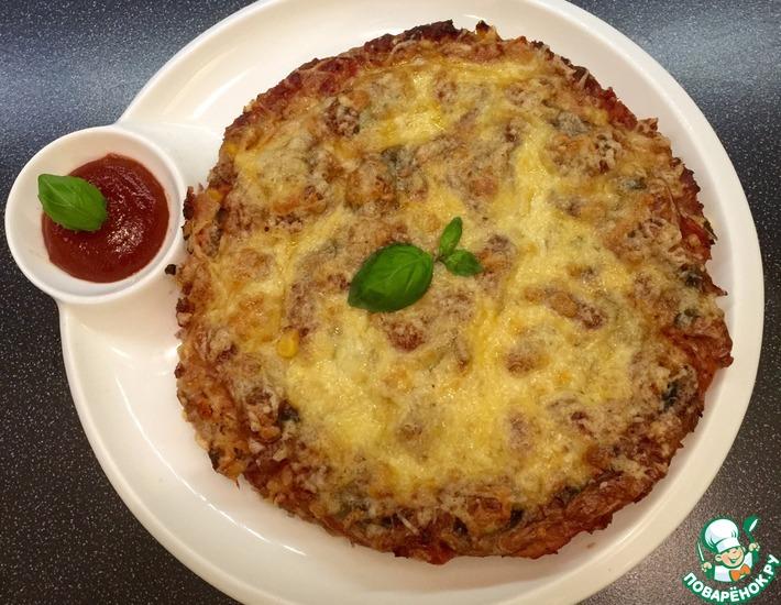 Рецепт: Мясная пицца без теста