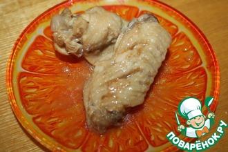 Рецепт: Лимонные крылья с устричным соусом