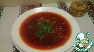 """The original recipe I. Feldman in the 1990 book """"Kitchen of the Soviet peoples"""" indicates that a bowl of borscht in Kiev with mushrooms added sour cream mixed with raw yolks of eggs and parsley (30 g sour cream, 2 raw egg yolks). To post enough to add to a plate of greens. Savory!"""