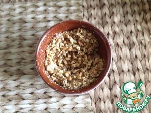 Крем:орехи пожарить. Затем измельчить