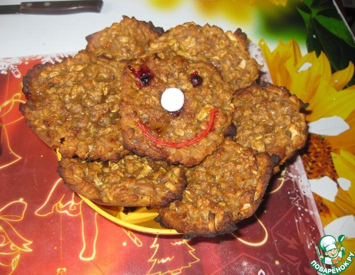 Рецепт: Овсяно-ржаное печенье Улыбнись!
