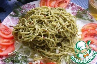 Рецепт: Спагетти Весенние