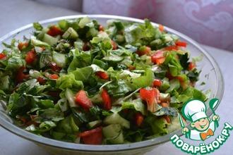 Рецепт: Салат Весенний с кресс-салатом