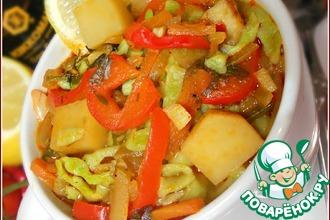Рецепт: Лапша из зеленого горошка с овощами