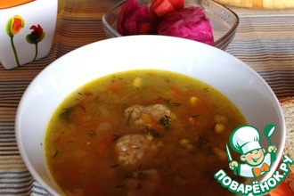 Рецепт: Полбяной суп с картофельными клецками