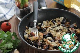 Рецепт: Жареные баклажаны с хлебными крошками
