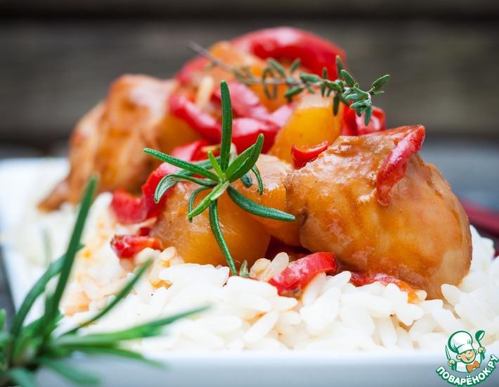 Рецепт: Курица в кисло-сладком соусе по-китайски