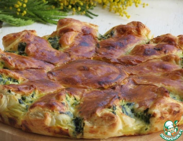 Рецепт: Пирог с рикоттой и зеленью