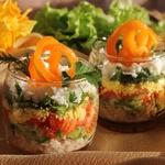 Легкий слоеный салат