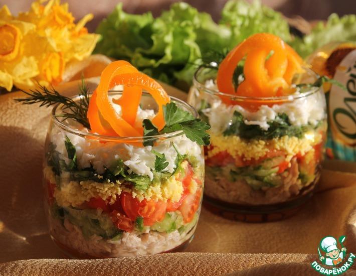 Рецепт: Легкий слоеный салат