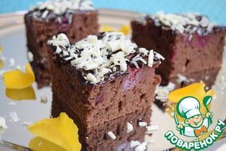 Рецепт: Шоколадно-вишнёвый пирог