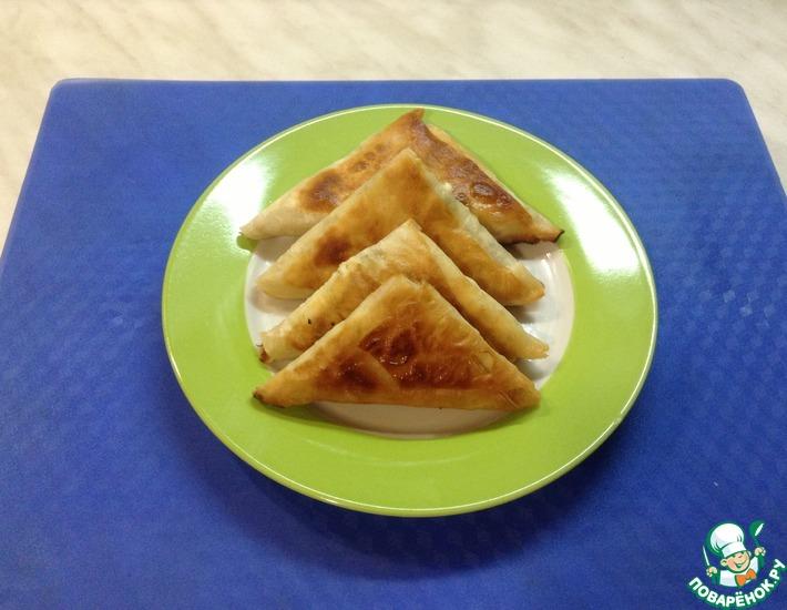 Рецепт: Пирожки из лаваша с творожной начинкой