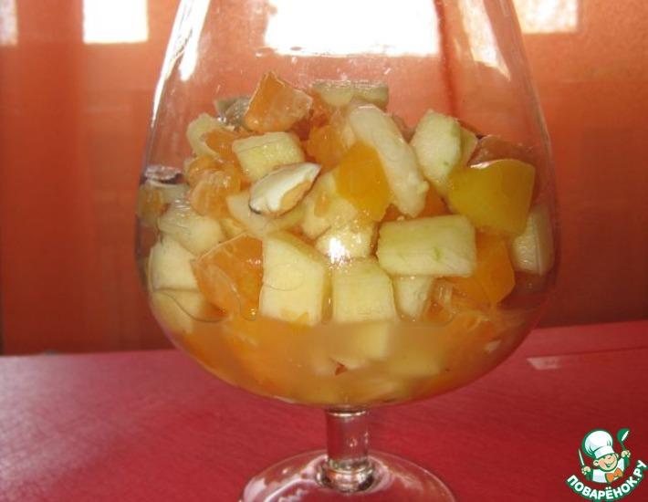 Рецепт: Фруктово-ореховый салат