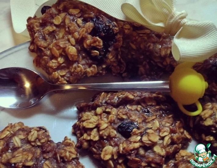Рецепт: Овсяно-банановое печенье