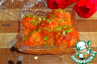 Рецепт: Тефтели в томатно-имбирном соусе