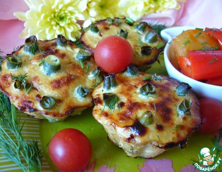 Рецепт: Рыбные кексы со стручковой фасолью