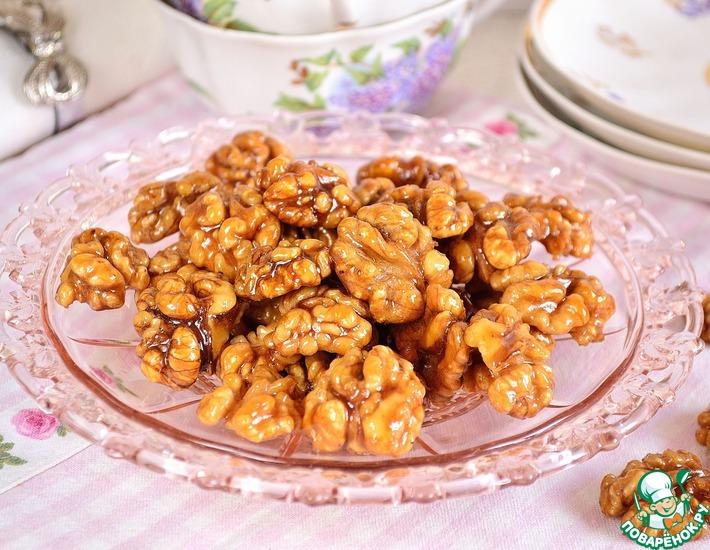 Рецепт: Орехи в пряной глазури