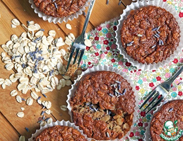 Рецепт: Овсяные кексы с лавандой