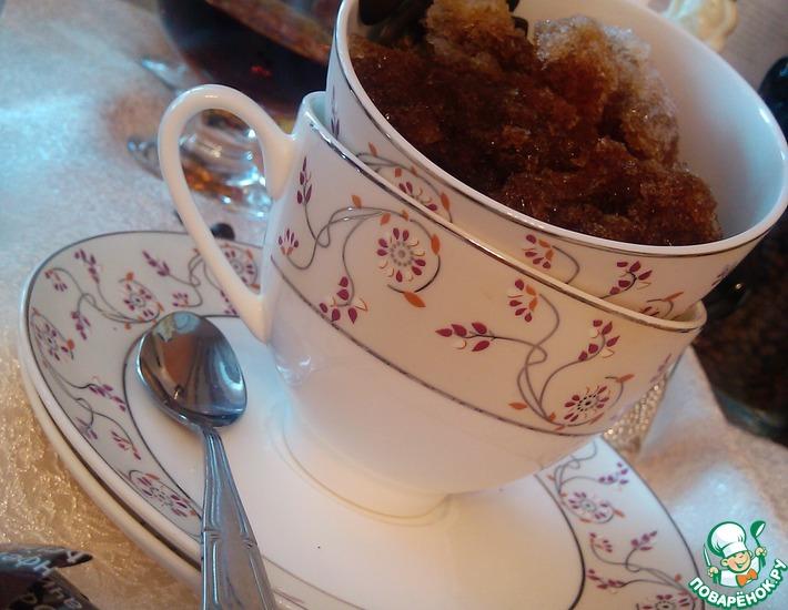 Рецепт: Кофейная гранита с коньяком