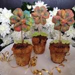 Кексы Цветочки для Золушки