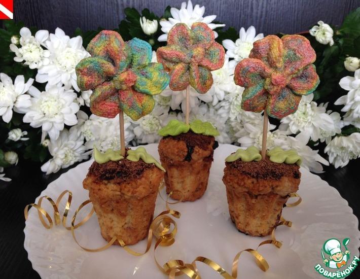 Рецепт: Кексы Цветочки для Золушки
