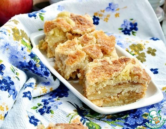 Рецепт: Постный яблочный пирог