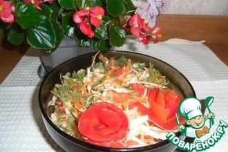 Рецепт: Салат Весенний с шафраном