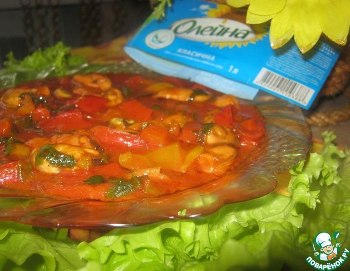 Рецепт: Закуска Красное море
