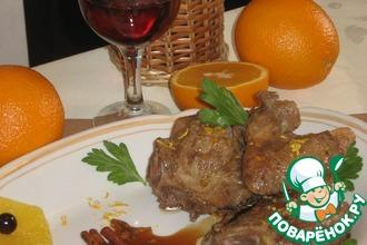 Рецепт: Утка в апельсиновом соусе с корицей