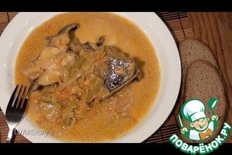 Рецепт: Рыба с овощами