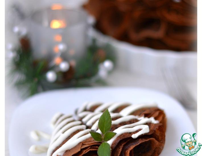 Рецепт: Тоненькие шоколадные блинчики