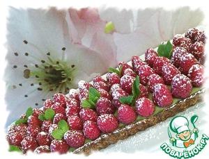 Посыпать сахарной пудрой и украсить листиками мяты. Основу и крем можно сделать заранее и хранить в холодильнике, а в день подачи собрать десеpт.