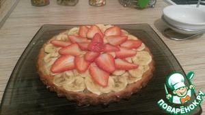 Рецепт Ванильно-банановый тортик с фруктами