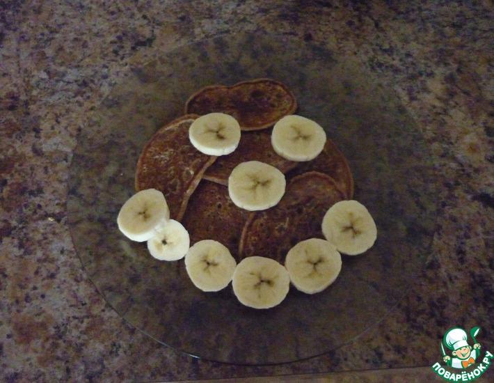 Рецепт: Постные оладьи с какао и корицей