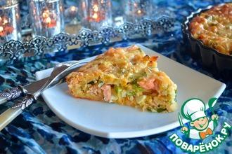 Рецепт: Рыбный пирог с рисом