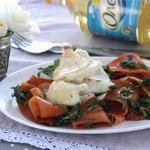 Теплый салат с филе трески