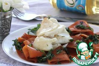 Рецепт: Теплый салат с филе трески