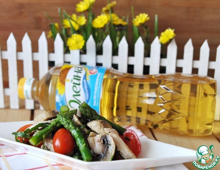 Рецепт: Салат со спаржей Изящество