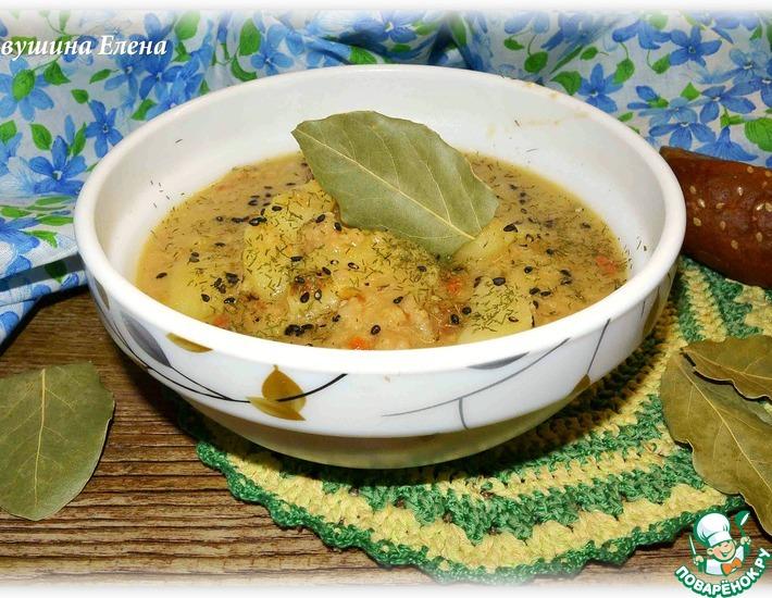 Рецепт: Суп тыквенный с фаршем и кунжутом