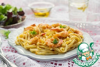Рецепт: Паста с креветками и томатным соусом