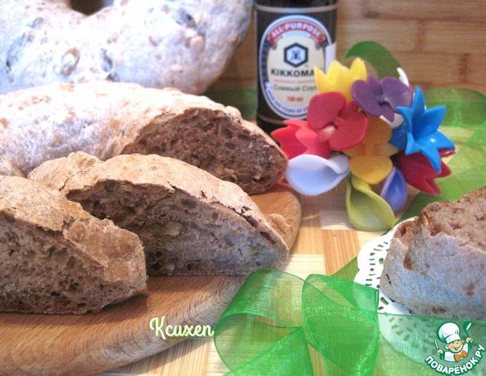 Рецепт: Хлеб цельнозерновой с грецкими орехами