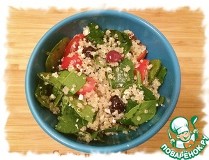 The salad can be used as an appetizer or as a side dish.