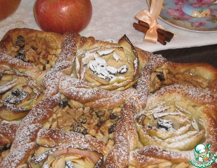 Рецепт: Дрожжевой яблочный пирог Файв'о'клок