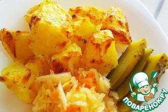 Рецепт: Картофель печёный Румяный